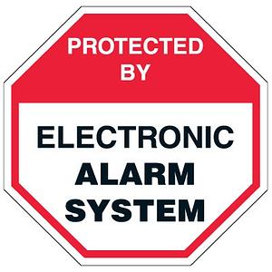 cctv alarm sign